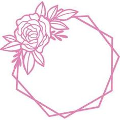 This design is intended to be cut with an electronic cutting machine. Diy Embroidery Patterns, Card Patterns, Machine Embroidery, Silhouette Mint, Silhouette Design, Silhouette Frames, Hexagon Tattoo, Starbucks Cup Design, Framed Tattoo