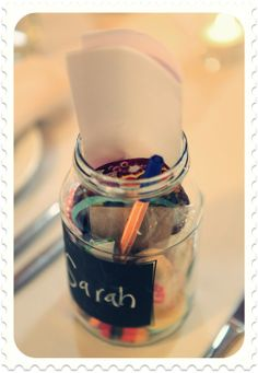 Consol treasure jars - clever idea to keep the children at your wedding entertained