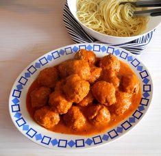 O Meu Tempero: Almôndegas (de carne) com molho (intenso) de tomat...