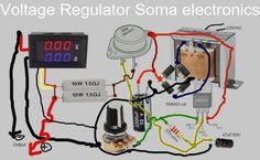 So this article we will learn how to make a voltage regulator with adjustable voltage and ampere with voltage display. This is a comp. Electronics Projects, Hobby Electronics, Electrical Projects, Electronics Components, Electronic Engineering, Electronic Circuit, Electrical Engineering, Lcd Keypad Shield, Transformers