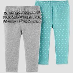 Baby Girls' Fox Pants - Just One You made by carter's Heather Gray Newborn, Girl's, Grey Gray Pull On Pants, Leggings Are Not Pants, Baby Girl Pants, Baby Girls, Color Pairing, Kids Outfits, Baby Outfits, Heather Grey, Dressing