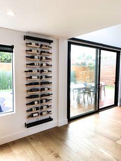 Diy Wine Rack Designs With The Unique And Trendy Styles - Diyever Wine Rack Design, Wine Cellar Design, Wine Cellar Modern, Modern Wine Rack, Wine Rack Inspiration, Home Decor Inspiration, Wine Shelves, Wine Storage, Home Wine Cellars