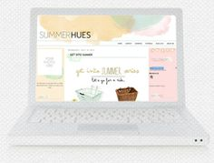 Summer Hues Blogger Template : Envye, A Design Shop by Wonder Forest
