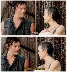 Daryl Dixon & Carol, The Walking Dead ... Nine lives, remember? http://pinterest.com/yankeelisa/the-walking-dead/