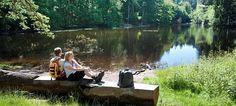 Wandern in OWL: Zu Fuß durch Natur und Geschichte  - Am Donoper Teich am Residenzweg bei Detmold. - © Teutoburger Wald Tourismus