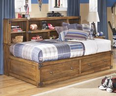 Cole Twin Bookcase Bed with Footboard Storage by Signature Design by Ashley