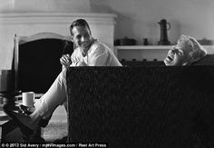 At home with the stars: Paul Newman and Joanne Woodward photographed at home in Beverly Hills, 1958