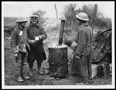 A cup of coffee given to a wounded soldier, WWI, ca. 1917