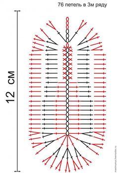 В этом мастер-классе я расскажу как связать крючком такие пинетки-балетки для девочки. Для того чтобы связать пинетки нам понадобится: 1. Крючки № 1,5 (или № 1,75) для вязания подошвы и выполнения обвязки и № 2,5 для вязания верха пинеток. 2. Пряжа. Я использую пряжу 'Джинс' от Ярн Арт 159м/50гр. Можнго использовать аналогичную пряжу от других производителей. 3. Бусины для декора.