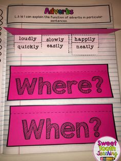 Adverbs Interactive Notebook Page Interactive notebooks are a great learning…