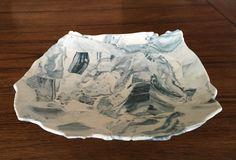 Hand Built Nerikomi Plate