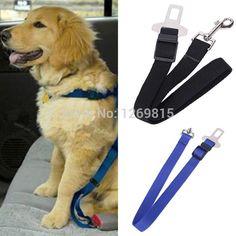 Adjustable Dog Cat Pet Car Safety Seat Belt Black Pet Belt for Dog Blue Safety Seat Belt Red Amy Green Dog Belt