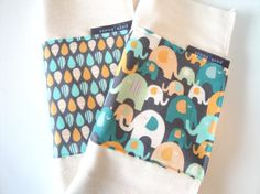 Gray Elephant Burp Cloths Baby Boy Gifts by poshhouseoriginals, $15.50
