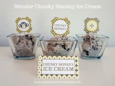 Chunky Monkey Blender Ice Cream with FREE Printables from www.strawberrymommycakes.com