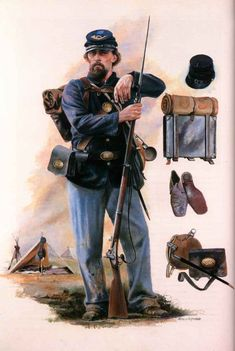 Officially all infantry officers in regulation dress were to wear frock coats of dark blue cloth. American Civil War, American History, Native American, War Novels, Civil War Art, Union Army, Le Far West, War Machine, World History