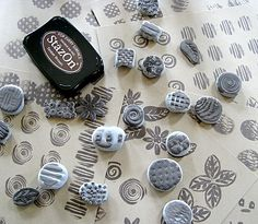 CAN'T STOP MAKING THINGS: DIY Rubber Stamps...I'm making it too complicated.