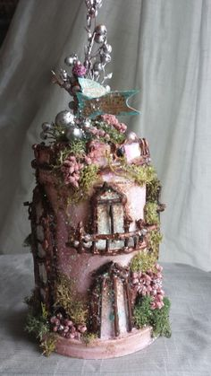 Some Day My Prince Will Come Fairy Musical Castle by maryfontones, $65.00