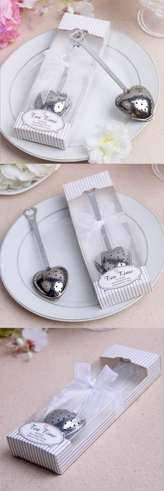 Free shipping 5 sets TeaTime Heart Tea Infuser Favor in Box Wedding Favors And Gifts Wedding Gifts For Guests Wedding Souvenirs