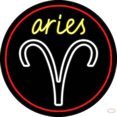 Aries Yellow Zodiac Border Red Real Neon Glass Tube Neon Sign,Affordable and durable,Made in USA,if you want to get it ,please click the visit button or go to my website,you can get everything neon from us. based in CA USA, free shipping and 1 year warranty , 24/7 service