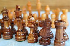 Vintage Wooden Chess Set Pieces Only / Wooden by SharonTalson