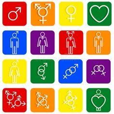Identidades sexuales de los iconos de LGBT diversas stock de ilustración Lgbt, Diversity, Identity, Political Freedom, Icons, Men