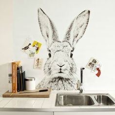 Rabbit Print Magnetic Wallpaper - view all easter