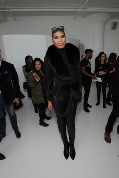 NEW YORK, NY - FEBRUARY 14: EJ Johnson poses during SheaMoisture at Laquan Smith F/W 2016 NYFW at Jack Studios on February 14, 2016 in New York City. (Photo by Bennett Raglin/Getty Images for SheaMoisture)