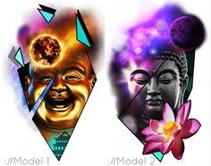 Buddha Tattoo Design, Buddha Tattoos, Celtic Tattoos For Men, Chinese Dragon Tattoos, Asian Tattoos, Colour Tattoo, Desenho Tattoo, Creative Tattoos, Tattoo Studio
