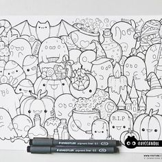 Number 19 Coloring Pages Inspirational Inktober Day 19 Halloween Doodle Coloring Kawaii Drawings, Doodle Drawings, Colorful Drawings, Cute Drawings, Kawaii Halloween, Halloween Doodle, Halloween Drawings, Love Doodles, Kawaii Doodles
