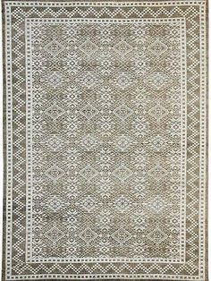 """9' x 12' #Modern #Ideal Handmade """"Solomon's Seal Happiness Motif"""" Decorated Rug. Design & Pattern Modern Pile Wool & Viscose Warp & Weft: Cotton Age New Woven Hand Knotted Condition Perfect Size (ft) 8' 11'' x 12' 0''"""