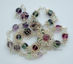 Looking for jewelry project inspiration? Check out Fluorite and Sterling by member HeikeK.