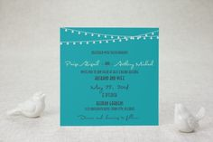 rehearsal dinner? Flat Square Wedding Invitations - Twinkling Hearts