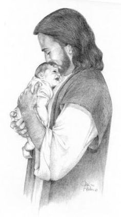 "Jesus said, ""Let the little children come to me, and do not hinder them, for the kingdom of heaven belongs to such as these.""  Matt. 19:14"