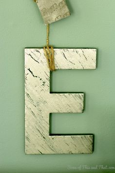 Easy and creative way to display wall art letters! Hanging Letters On Wall, Letter Wall Art, How To Make Letters, Creative, Diy, Bricolage, Do It Yourself, Homemade, Diys