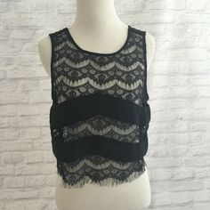 Eyelash lace crop top Beautiful eyelash lace crop top.  Great condition worn once.  Purchased from Nordstrom Rack but brand is Nasty Gal Nasty Gal Tops Crop Tops