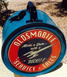 Oldsmobile rocker oil can. Make a date with a rocket 8. Restored Rocker Oil Can