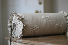 Millie&Bell offer a range of beautiful bespoke soft furnishings and accessories for the home,all lovingly handmade in the UK by designer Amanda. Bolster Cushions, Bed Pillows, Bell Shop, Cushion Fabric, Hand Embroidery Designs, Handmade Design, Soft Furnishings, Upholstery, Daybed
