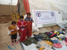 ZF provided winter kits to Iraqi IDP children to help with the bitterness of cold and displacement. #Iraq #Aid #OneHumanity