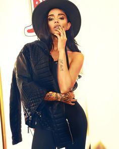 BODA beauty @unimerce on Instagram wearing her Kay Michaels in Oil Black (£379) #bodaskins #leather