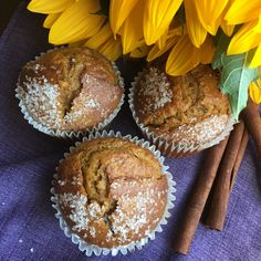 When fall comes around it means one thing - Pumpkin Spice season! Get ready with these easy Pumpkin Spice muffins that you can make with a from scratch recipe. Pumpkin Recipes, Fall Recipes, Delicious Recipes, Cheesy Potato Bake, Pumpkin Spice Muffins, How To Make Pumpkin, Breakfast Bake, Food Now, Muffin Recipes