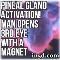 By using the north end of a magnet, a man allegedly opened his pineal gland (third eye) to not only see things within this dimension but beyond it as well.