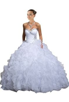 white ball gowns , sweetheart , ruffled , lace up , corset , prom dresses , wedding dresses cheap , long , crystal , rhinestone , modest , elegant , fashion , great ,