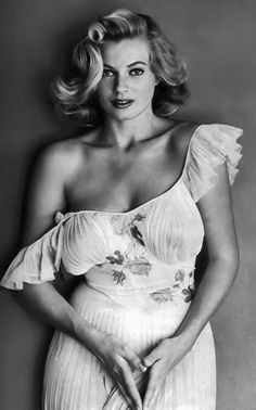 Anita Ekberg -  After five years in Hollywood, she found herself in Rome, where Federico Fellini's La Dolce Vita (1960) meant her breakthrough. She stayed in Italy and made around 20 movies during the next ten years, some roles memorable, some to be forgotten. Her two marriages gave her a lot of attention from the press. During the 1970s, the roles became less frequent, but she made a marvellous comeback with Fellini's Fellini's Intervista (1987).