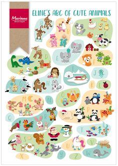 Eline's ABC of Cute Animals - Marianne Design