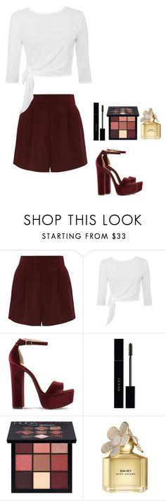 """Just try to love me"" by lissaespinosa1 on Polyvore featuring moda, Topshop, Steve Madden, Gucci, Huda Beauty y Marc Jacobs"