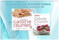 Calorie Counter & Pocket Calorie Counter 2 #Books   Collection Set By Collins Uk & #CarolynHumphries . #caloriecounting #collins #dietbooks #dietrecipes