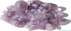 Glass from bottles, tableware and other sources containing manganese dioxide creates sun-colored amethyst sea glass when exposed to the sun over time.
