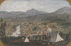 Great Meeting of Gold Diggers - Mt Alexander Goldfields near Bendigo - December 1851 Gold Prospecting, The Settlers, Historic Houses, Victoria Australia, Digger, Historical Pictures, Paris Skyline, Melbourne, The Past