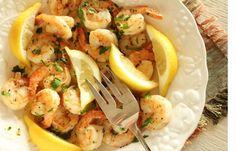 Get 4 Minute Spicy Garlic Shrimp Recipe from Food Network Shrimp Recipes Easy, Fish Recipes, Seafood Recipes, Dinner Recipes, Garlic Recipes, Flounder Recipes, Food Network Recipes, Cooking Recipes, Healthy Recipes