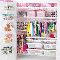 Little girl's bedroom closet